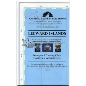 LEEWARD ISLANDS - żeglarska mapa turystyczna