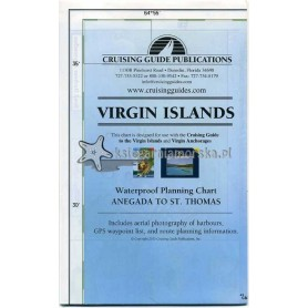 VIRGIN ISLANDS - żeglarska mapa turystyczna
