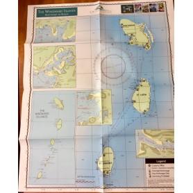 mapa Windward Islands (Karaiby Wyspy Zawietrzne)