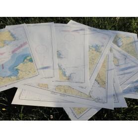 Zestaw map Adriatyk - Male Karte I. Od Zatoki Triesteńskiej do Kanału Zadarskiego