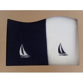 Komplet ręczników - żaglówka