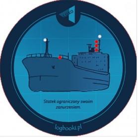 Podkładka pod kubek - statek ograniczonej swoim zanurzeniem