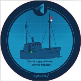 Podkładka pod kubek - statek zajęty połowem &#8211, inny niż trałujący