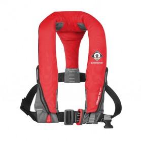 Pneumatyczna kamizelka ratunkowa CrewFit 165N Sport czerwona (z uprzężą)