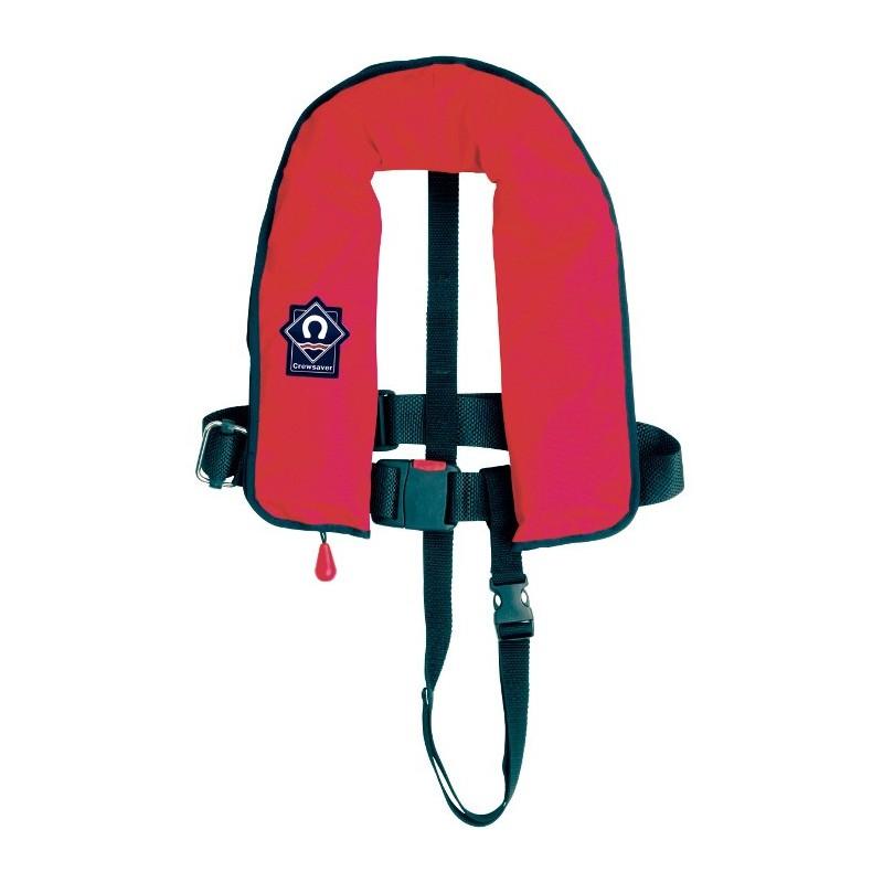 Pneumatyczna kamizelka ratunkowa dla dzieci Crewfit 150N 1058-JUNIOR czerwona (bez uprzęży)
