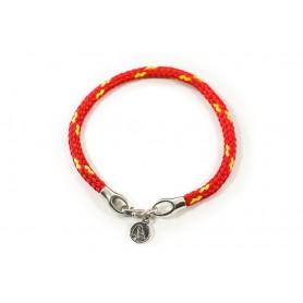 Bransoletka sznurek czerwono-żółty