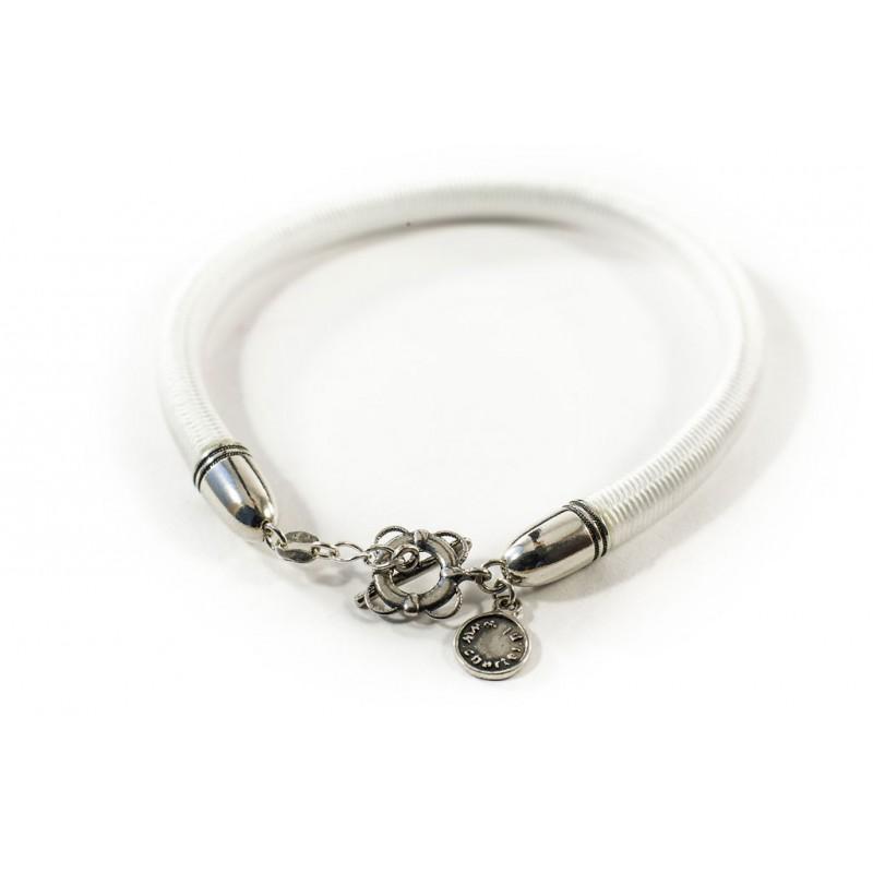 Bransoletka sznurek elastyczny biały