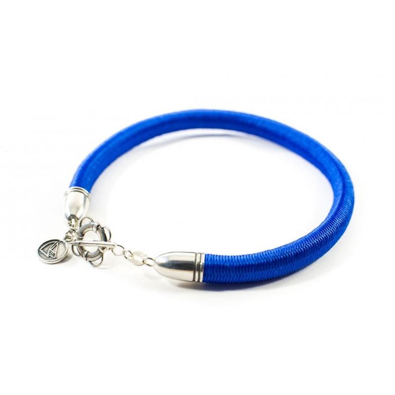 Bransoletka sznurek elastyczny niebieski