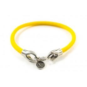 Bransoletka sznurek elastyczny żółty