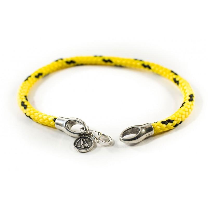 Bransoletka sznurek żółto-czarny