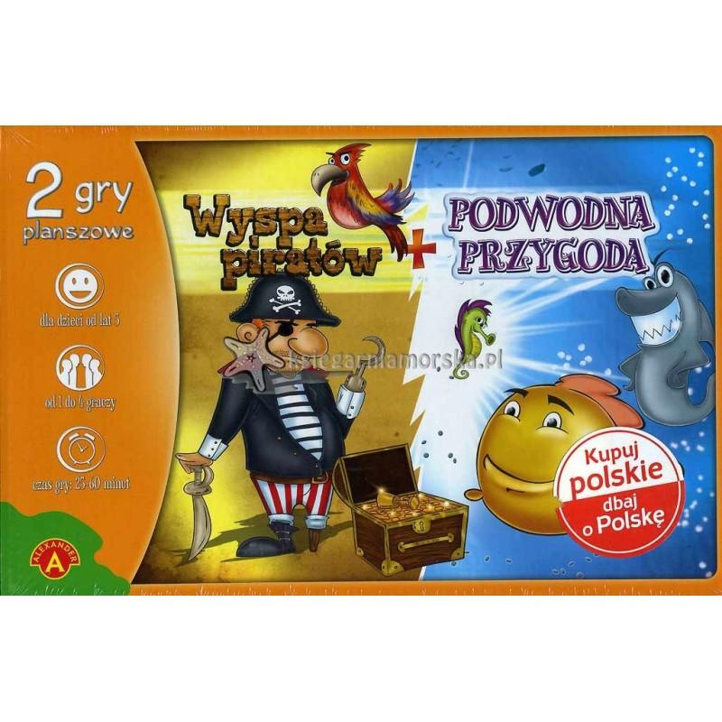 Gra planszowa - Wyspa piratów + Podwodna Przygoda