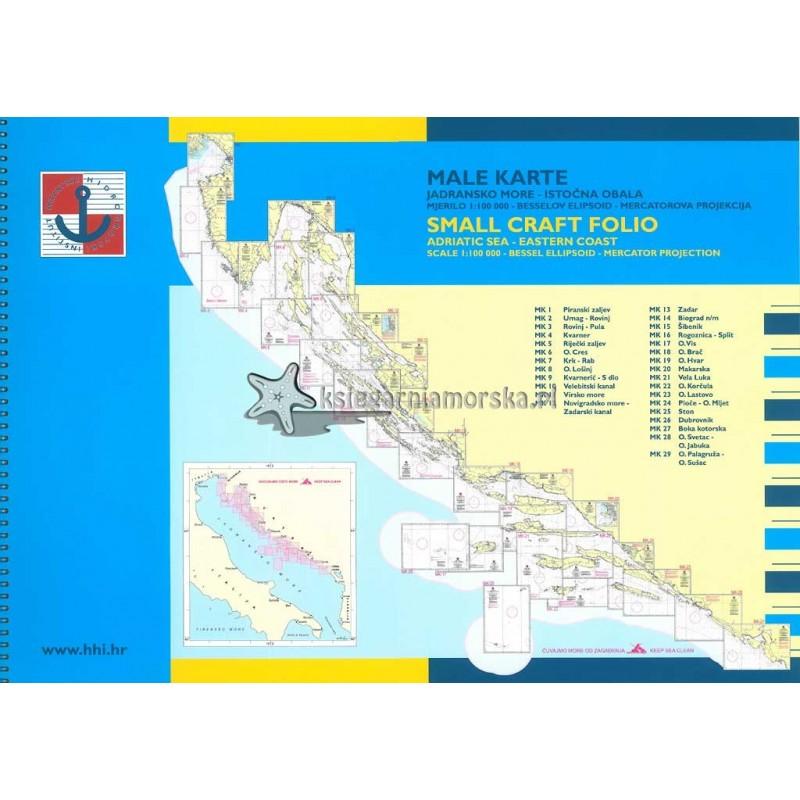 Zestaw map Adriatyk - Male Karte - Od Zatoki Triesteńskiej do Kotoru