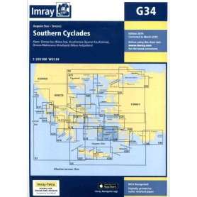 mapa G34 - Southern Cyclades (East Sheet)