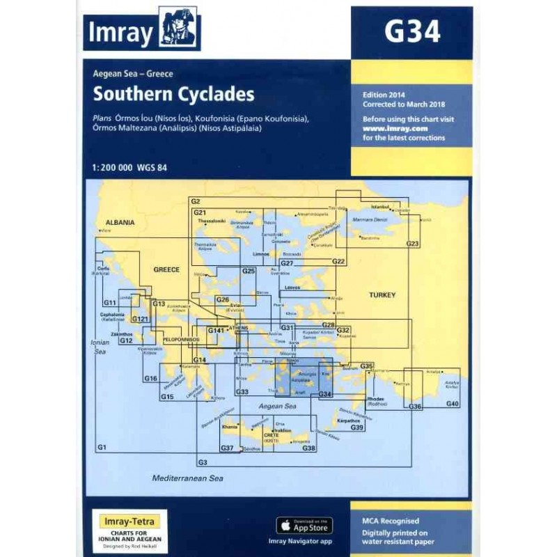 mapa G34 - Southern Cyclades (East Sheet)