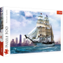 Żaglowiec na tle Chicago - puzzle